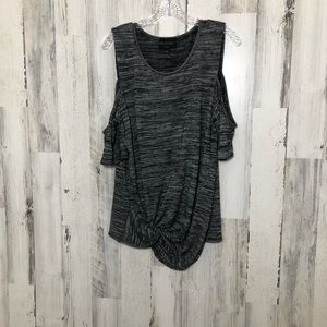 Absolutely Creative Worldwide Sz L Gray Knit Top
